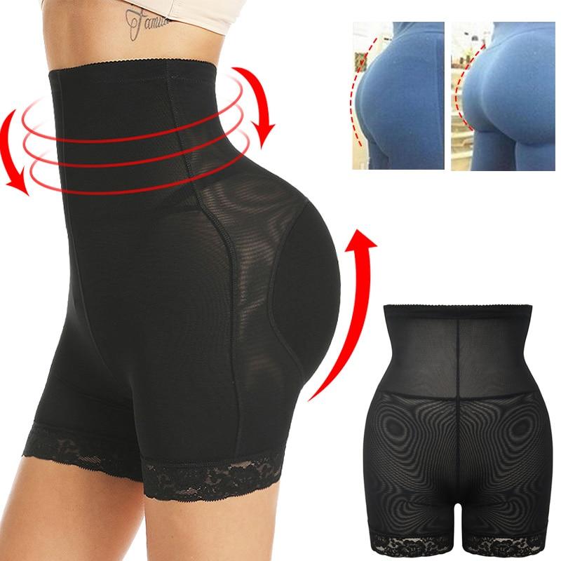 Hip Booty Enhancer High Waist Padded Butt Lifter Tummy Control Panties Briefs Shapewear Ass Pad Shorts Body Shaper Underwear