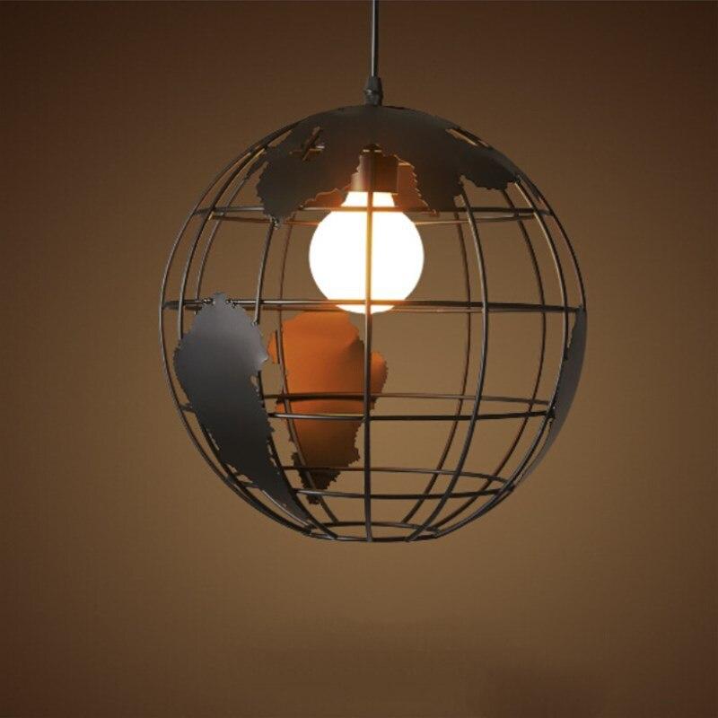 Luminaires de décoration industrielle, Globe rétro nordique rétro, lampes à suspendre pour café, éclairage de la chambre à coucher, Luminaires de décoration industrielle