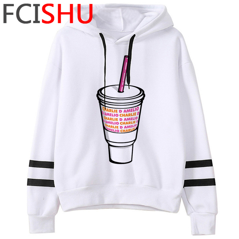 Fashion Charli Damelio Merch Ice Coffee Graphic Hoodies Women Harajuku Ullzang Funny Cartoon Sweatshirt Wimter Warm Hoody Female 14