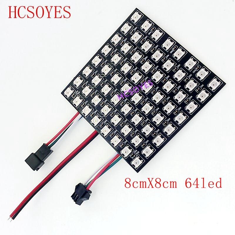 Image 4 - WS2812b Led Panel module 8x8/8x32/16x16 Pixels Individually addressable Full Color Screen LED Heatsink Digital DIY Display Boa-in LED Modules from Lights & Lighting