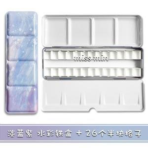 Image 5 - 24 Kleur Starry Verf Lade Palet Medium Aquarel Pigment Doos Volledige Blok Tinta Ijzeren Doos Roze Kleuren Voor Gouache Art levert