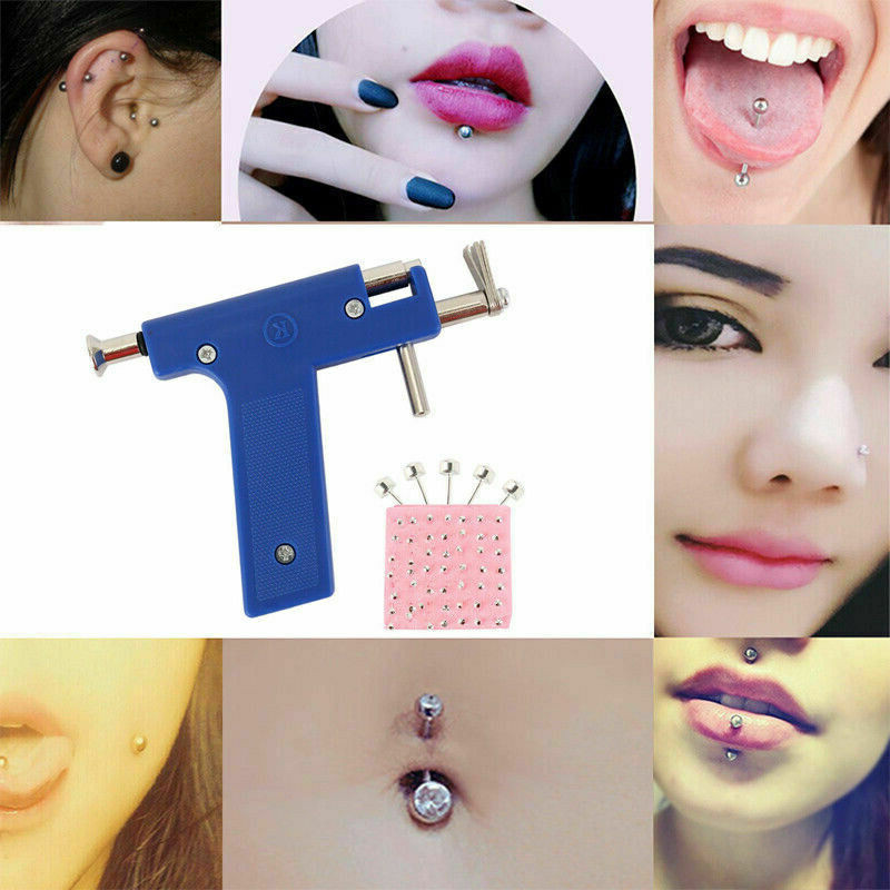Ear Nose Body Navel Piercing Gun With Ears Studs Tool Disposable Sterile Ear Piercing Tool Kit With 98pcs Ear Studs Jewelry Tool