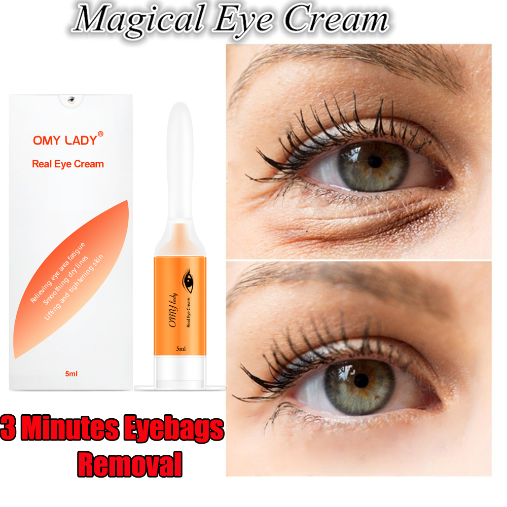 5ML  3 Minutes Instant  Remove Eyebags  Magic Eye Cream Firming Eye Anti Puffiness Dark Circles Under Eye Anti Wrinkle Eye Care