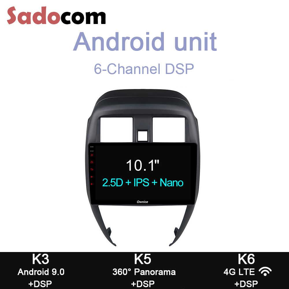 """10.1 """"DSP Đầu DVD Ô Tô 8 64GB ROM 4GB RAM 4G LTE GPS Autoradio Đầu Ghi Hình OBD TPMS Android 9.0 Dành Cho Xe Nissan Sunny 2014 2015 2016"""