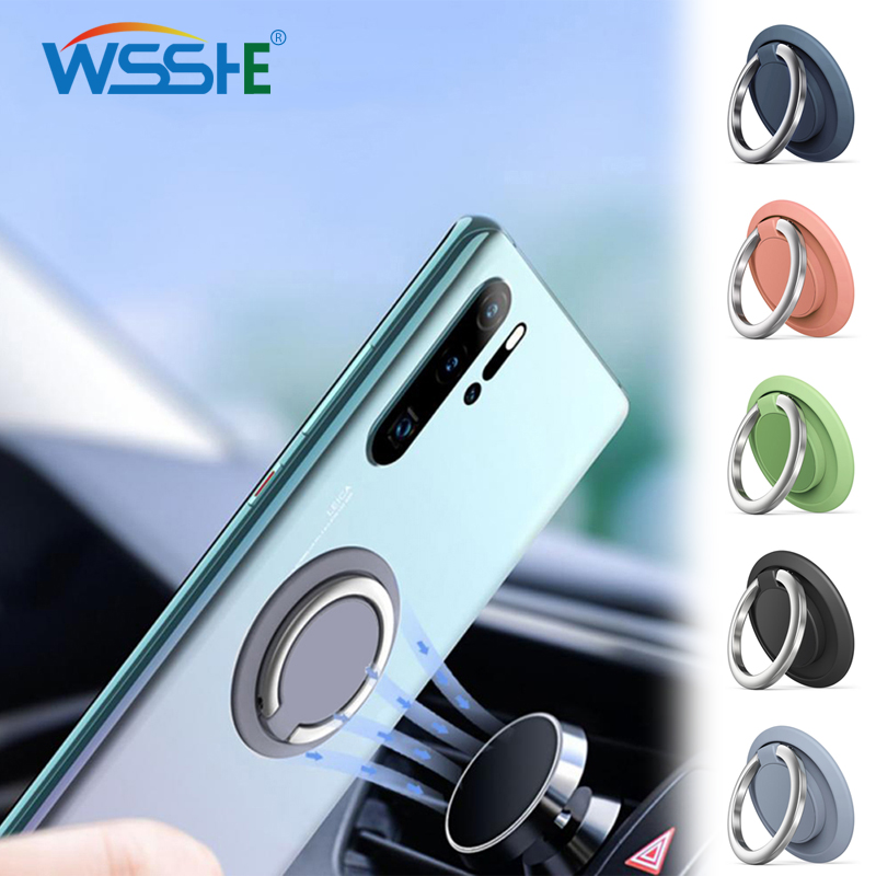 8 Colors Phone Ring Holder For Cell Phone Tablet Pc Magnetic Car Mount Stand Multifunction Phone Finger Ring Holder Rotatable