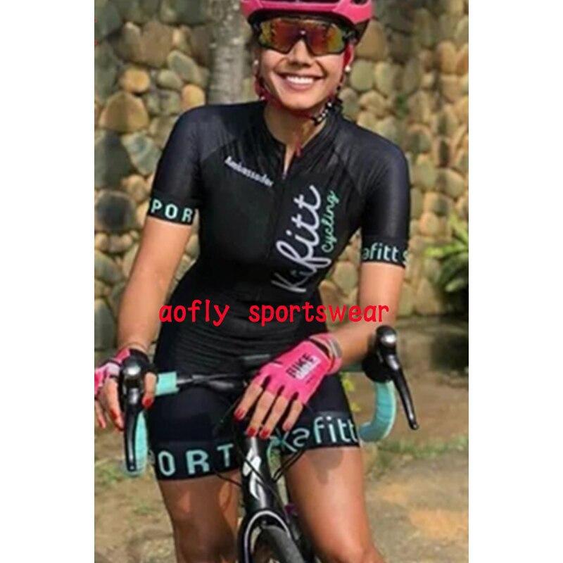 Macaquinho Ciclismo das mulheres triathlon manga curta camisa de ciclismo define skinsuit maillot ropa ciclismo bicicleta jérsei roupas ir macacão macacão ciclismo feminino kafitt conjunto ciclismo roupa de ciclismo 17