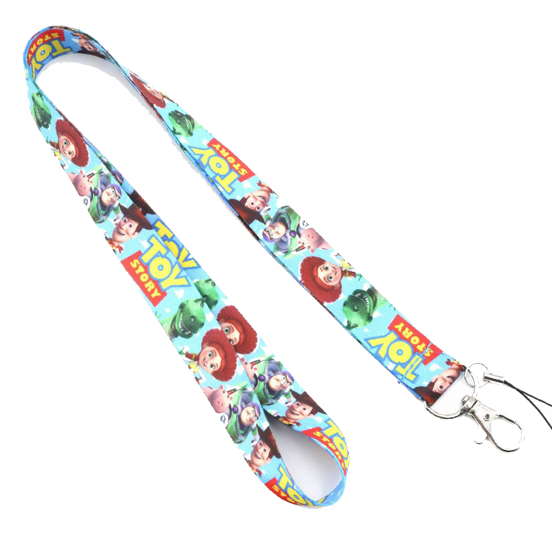 Cute Toy Story 4 Buzz Lightyear Woody Forky Lanyard Phone Holder ID Card Lanyard Key Chains Gift Hobby Collection Cute Keychain