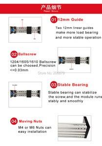 Image 5 - 500mm 600mm 유효 이동 스트로크 1605 1610 볼 스크류 16mm 리니어 가이드 모션 모듈 레일 테이블 CNC 3D 프린터 Z 축 c 빔