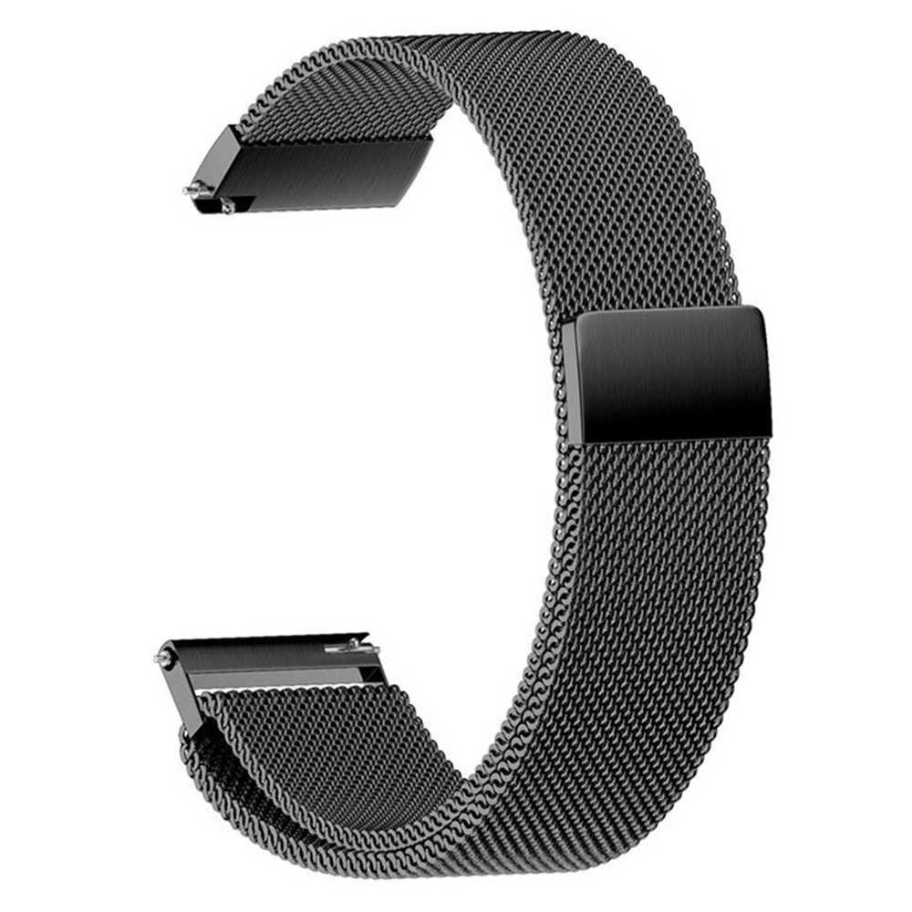 20 millimetri Magnetico milanese loop strap per Huami Amazfit GTS Bip fasce per 22 millimetri in acciaio inossidabile del braccialetto del polso per Amazfit GTR 42 millimetri 47 millimetri