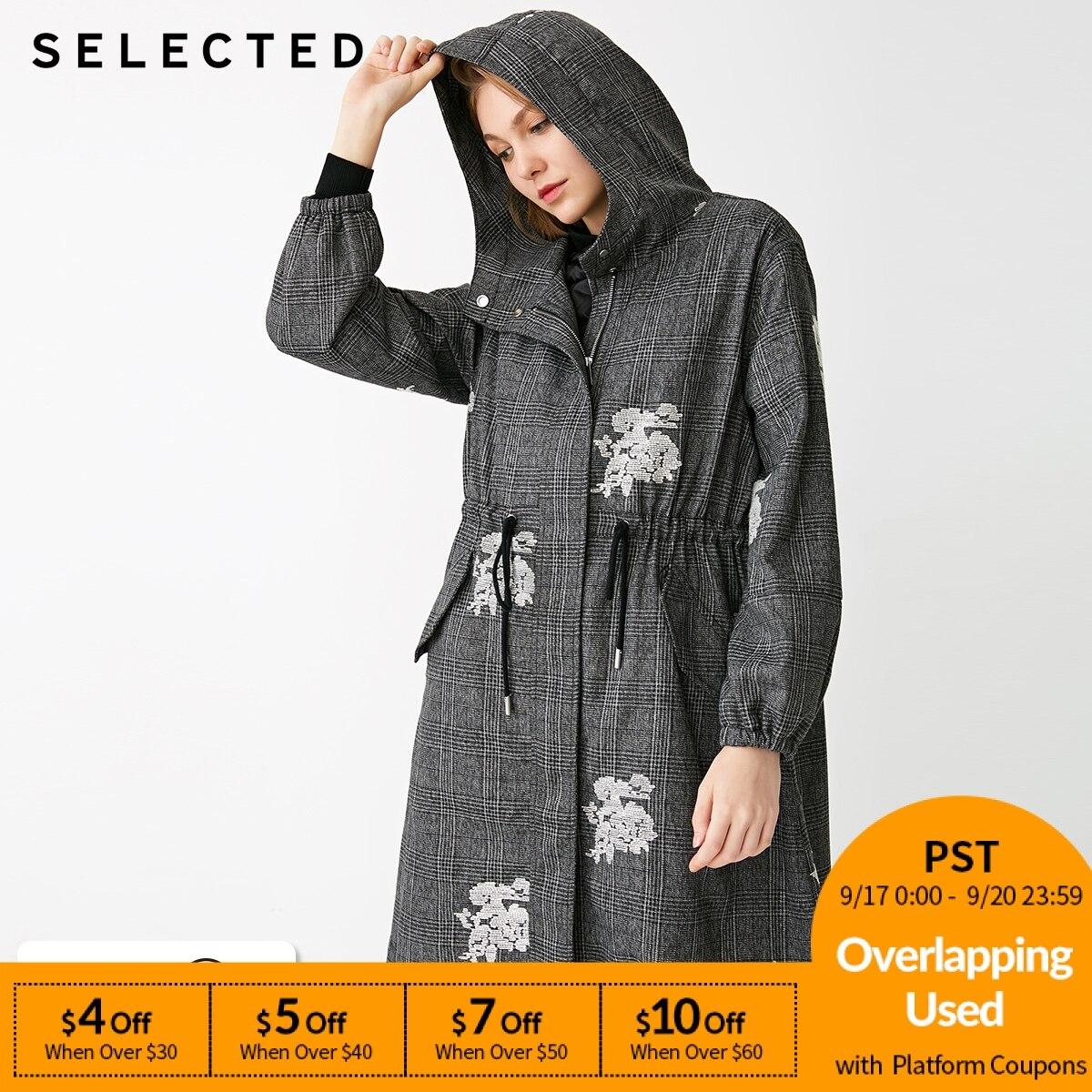 SELECTED New women's detachable white duck   down   liner long   coat   S |418312503