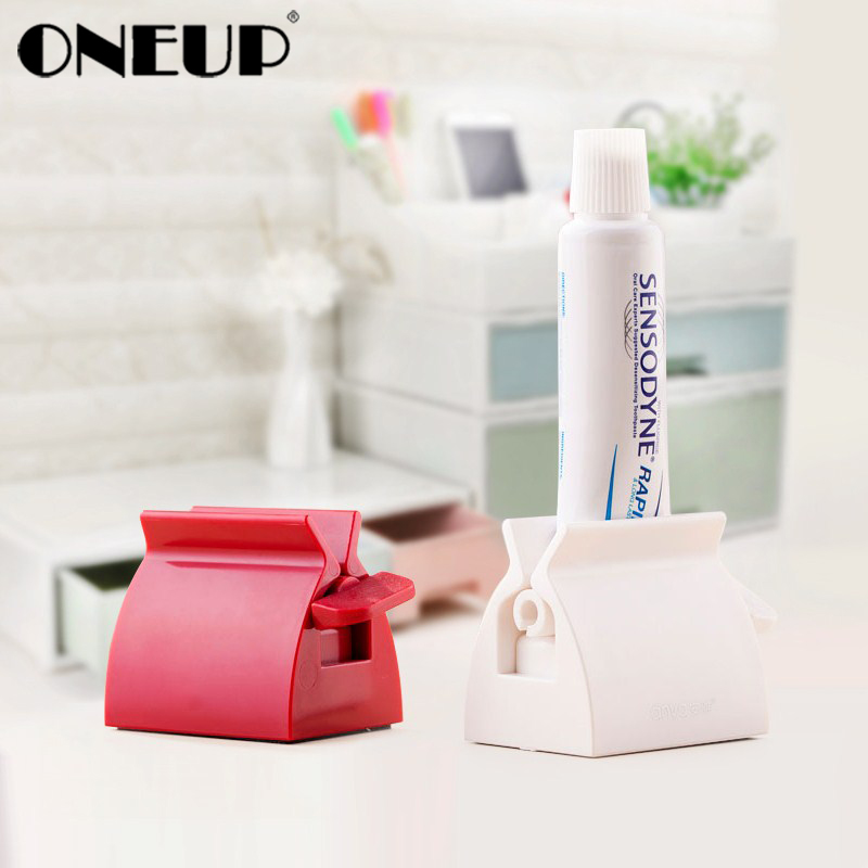 ONEUP Rolling Toothpaste Squeezer Tube Toothpaste Squeezer Dispenser Easy Creative Tooth Paste Holder Bathroom Accessories Sets(China)