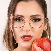 Очки lonsy женские в ретро стиле металлические оптические аксессуары