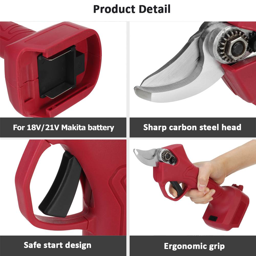 home improvement : Cordless Electric Pruning Shear Scissors Efficient Fruit Tree Bonsai Pruning Branches Cutter Pruner Garden Tools For Makita 18V