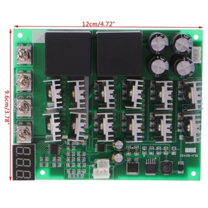 Image 5 - DC 10 55V 12V 24V 36V 48V 55V 100A מנוע מהירות בקר PWM HHO RC הפוך בקרת מתג עם תצוגת LED