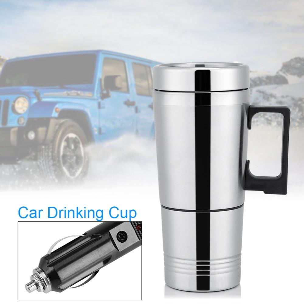 300ml Auto Electric Heater Car Mug Travel Heater Cup Bottle Stainless Steel Coffee Tea Water Mug Vehicle Heating Drinking CupHOT