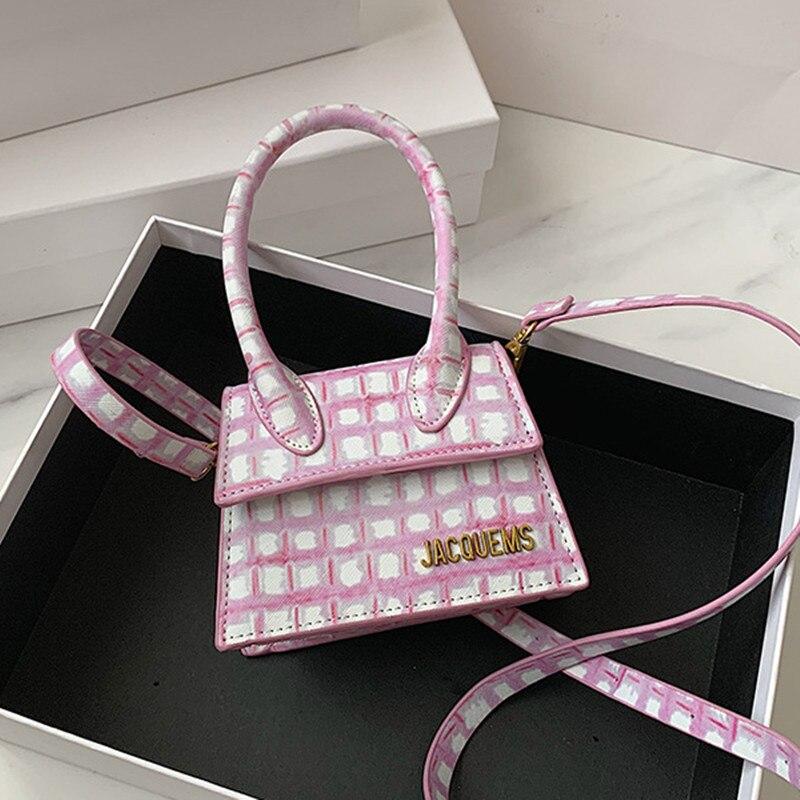 Маленькая сумка женская 2020 новая мини индивидуальная Милая модная сумка через плечо клетчатая дикая сумка мессенджер Женская сумочка и сумки|Сумки с ручками|   | АлиЭкспресс