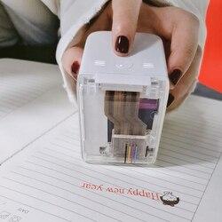 Mini Removable Handheld Color Printer USB Wireless Bluetooth Portable Printer The World's Smallest Mobile Color Printer
