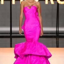 Ральф Руссо Русалка вечернее платье, Милая тафта Формальное женское платье, Многоуровневая оборками юбка вечернее платье