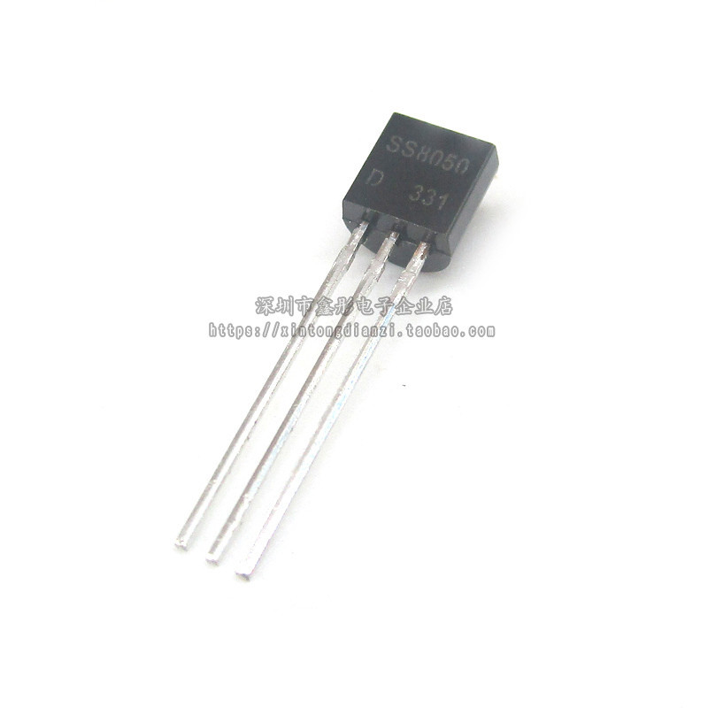 100pcs In-line Transistor SS8050D SS8050 Double S High Current TO-92