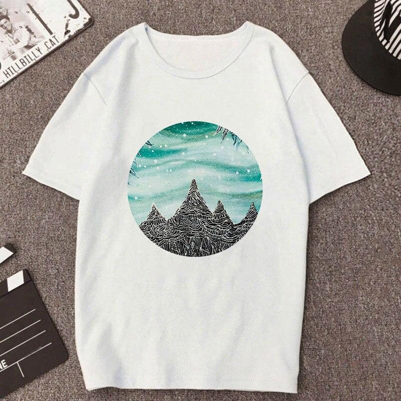 Новый геометрический рисунок печатной женская футболка с коротким
