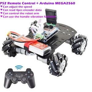PS2 RC Smart Mecanum Wheel Rob
