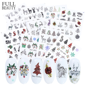 1pcs Christmas Sliders for Nails Winter Snowflake Santa Sticker Winter Nail Art Decals DIY Foil Manicure Decoration CHSTZ797-905