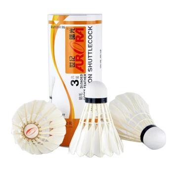 3PCS/SET Durable Badminton Shuttlecocks Top Grade Natural Goose Feather Sport Ball for Match Training