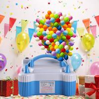 Dual Hole Inflatable Electric Foil Balloon Pump Inflator Air Blower Pump