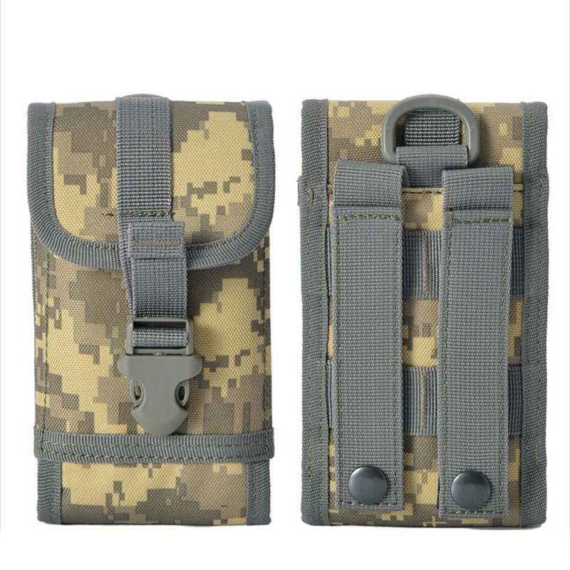 Tactical Outdoor Military Utility Bag Waist Accessories Bag Phone Belt Pouch Cell Phone Holder Mobile Phone Case 17x9x2cm
