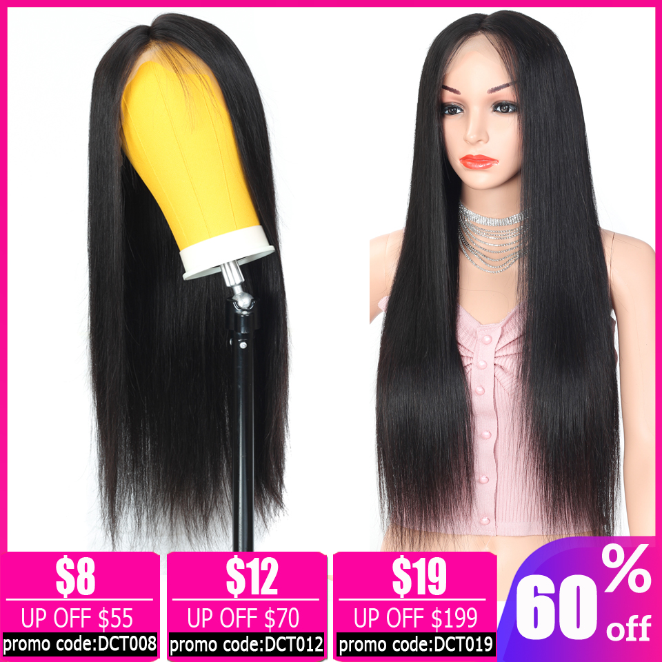 Straight 13x4  Lace Front Wig Brazilian Short Lace Front Human Hair Wigs For Women Bob Lace Front Wigs Non-remy 150% Density