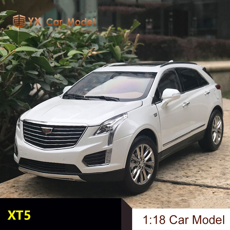 1//18 Scale CADILLAC XT5 2019 SUV White Diecast Car Model Collection Toy Gift