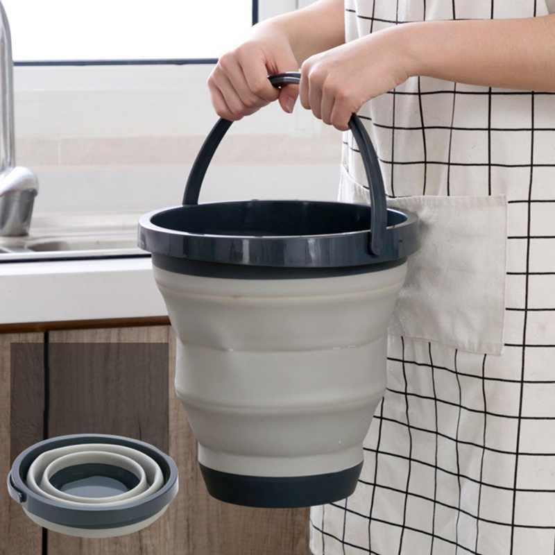 อ่างล้างหน้าแบบพกพารอบถังพับเก็บได้หดในครัวเรือนล้างโฟมรถท่องเที่ยวกลางแจ้งซักรีดซักผ้าจาน