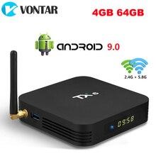 تي في بوكس أندرويد 9.0 TX6 4GB RAM 64GB 5.8G Wifi Allwinner H6 رباعية النواة USD3.0 BT4.2 4K مشغل جوجل يوتيوب تانيكس مجموعة أفضل صندوق TX6