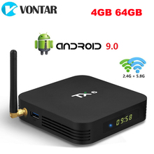 Android 9.0 TV, pudełko TX6 4GB RAM 64GB 5.8G Wifi Allwinner H6 czterordzeniowy USD3.0 BT4.2 4K Google Player Youtube Tanix dekoder TX6