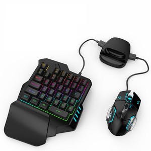 Image 5 - PUBG Mobile Gamepad Controller Gaming Keyboard Mouse Converter For IOS Android Phone to PC Game Controller Holder Cooling Fan