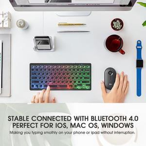 Image 3 - Rii Bluetooth 4.0 Wireless Multiple Color Rainbow LED Backlit Keyboard With Rechargeable Battery For iOS Android and MacBook