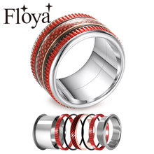 Cremo Women Vampire Rings Red Enamel Hallowmas Interchangeable Rotation Trendy Fire Male Band Anillo Hombre Bijoux