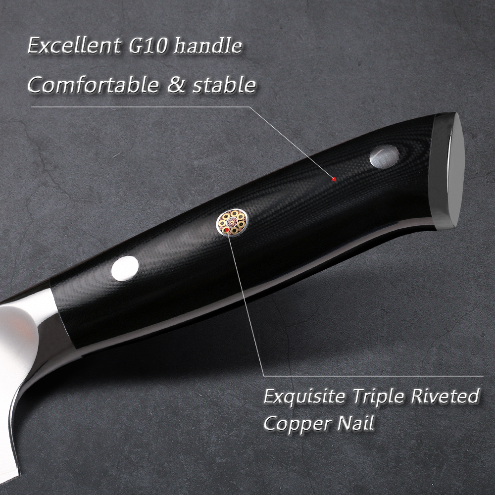 TURWHO Damascus Kitchen Knife Set 4PCS Super Sharp Vegetable Cleaver Santoku Utility Chef Knife Sets Pro Kitchen Cooking knives 6