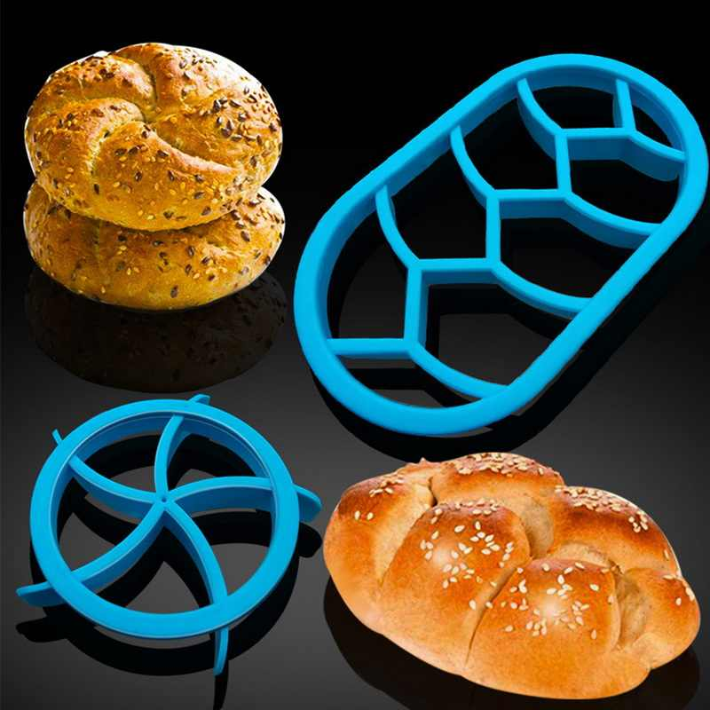 التعميم البيضاوي الخبز قوالب مروحة على شكل المعجنات القاطع العجين الإبداعية قوالب أشكال لصناعة البسكويت الخبز البسكويت قوالب المطبخ المعجنات الخبز أدوات
