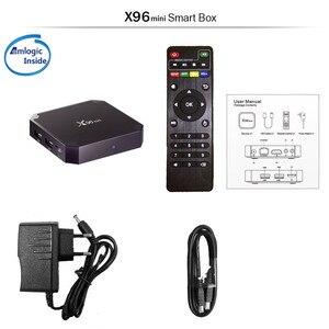 Image 5 - TEKASMI X96mini الذكية أندرويد 9.0 صندوق التلفزيون Amlogic S905W رباعية النواة 2GB 16GB واي فاي H. 265 مشغل الوسائط X96 جهاز استقبال صغير