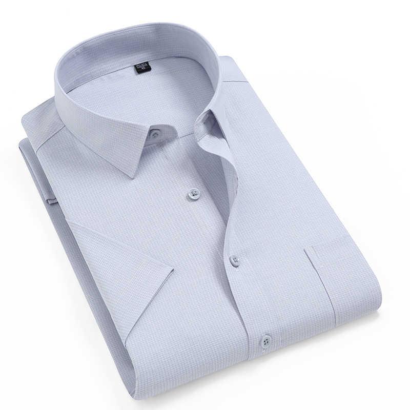 2020 neue Sommer Männer Shirt Kurzarm Keine-Eisen Recycling Faser Druck Shirts Fashion Business Arbeit Shirts Marke Kleidung DS403