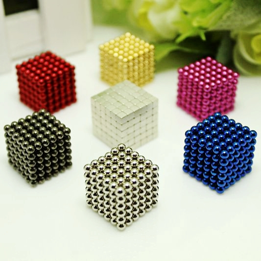 2019 New 3mm 4mm 216pcs Magnetic Magic Cube Bucky Puzzle Magcube Blocks Sphere Beads Neo Cube Balls DIY Toys Christmas Gift