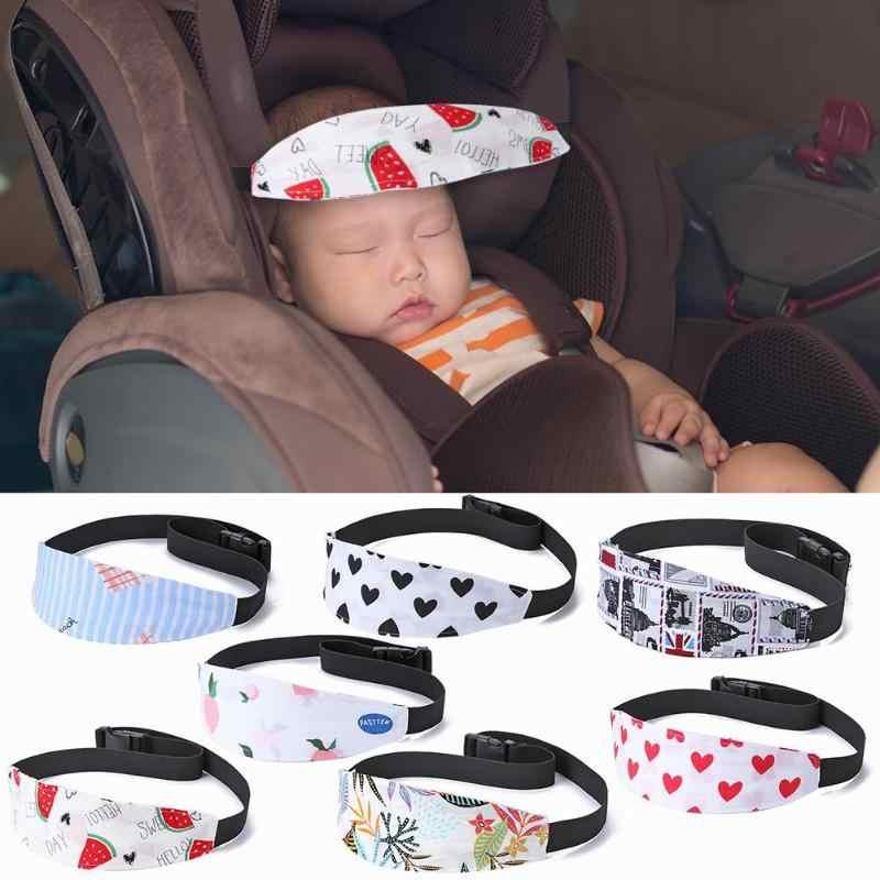 Xiaoyu asiento de coche de ni/ño soporte de la cabeza asiento de coche ajustable banda de apoyo de la cabeza del ni/ño peque/ño azul asiento de coche de la cubierta de correas
