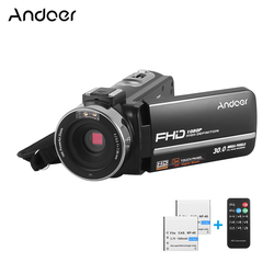 Andoer 1080p Fhd Digital Video Camera Dv Recorder Ir Nightshot 30mp With 2pcs Rechargeable Batteries 3.0 Inch Lcd Touchscreen