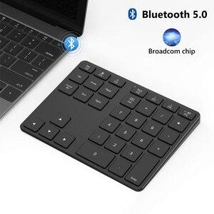 Image 4 - Avatto アルミ合金 35 キー bluetooth ワイヤレステンキー、デジタルキーボード windows 、 ios 、 mac os 、アンドロイドタブレットノート pc