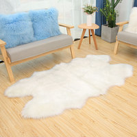 ROWNFUR Soft Artificial Sheepskin Carpet For Living Room Kid Bedroom Bath Mat Chair Cover Fluffy Anti Slip Faux Fur Area Rug