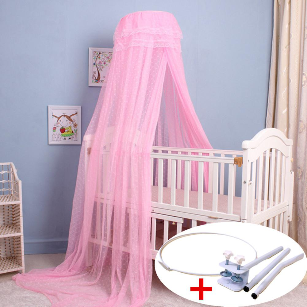 Kidlove Baby Summer Crib Mosquito Net For Infants Portable Cot Folding Canopy Netting Protector With Bracket