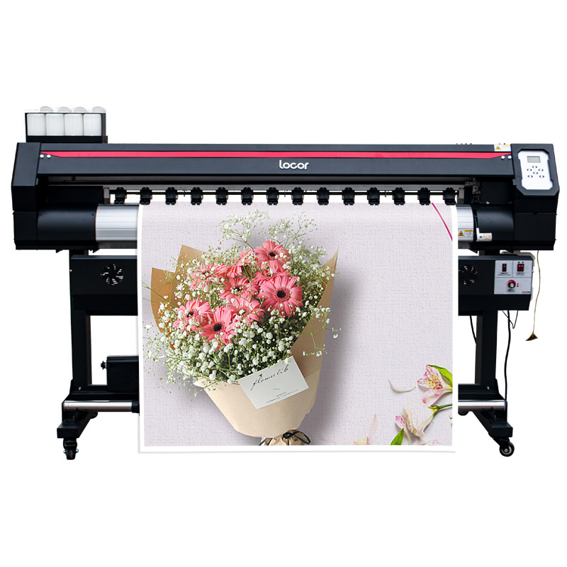 High Resolution Eco Solvent Printer 1.6m With Two Printheads For PVC And Banner Best Vinyl Printer