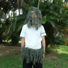 Hood-Cap Ghillie-Suits Rifle-Rope Hunting-Clothing Grass-Type Camouflage-Gun Flexible