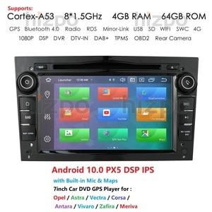Android 10 Octa Core 2 DIN CAR Radio GPS for opel Vauxhall Astra H G J Vectra Antara Zafira Corsa Vivaro Meriva Veda DVD PLAYER